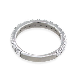 1ct Diamond Almost Eternity Band in 14k White Gold. Incredible Value On Natural, Earth-Mined Diamonds!