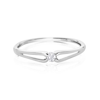 .07ct Diamond Promise Ring in Sterling Silver