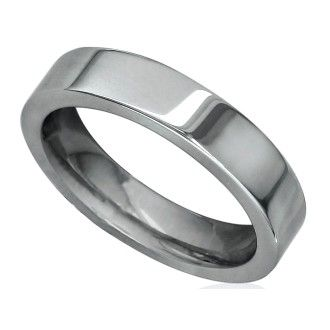 4mm Flat Comfort Fit Titanium Wedding Band