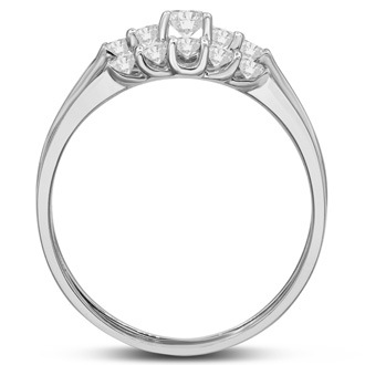 1/2ct Diamond Bridal Set With .12ct Center Diamond in 14k White Gold