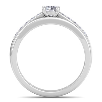 1/2ct Classic Diamond Bridal Set in 14k White Gold