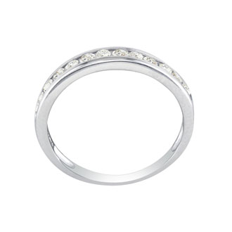 1/4ct Channel Set Diamond Band in White Gold