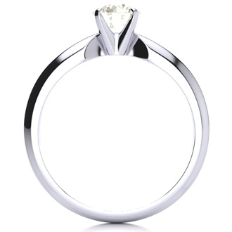 14k White Gold 1/2ct Diamond Solitaire Ring, I/J, I1/I2