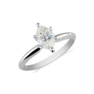 1/4ct Marquise Cut Diamond Engagement Ring in 10k White Gold
