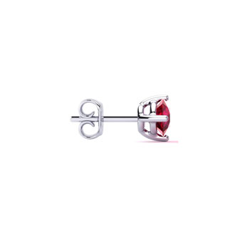 1/2ct Natural Ruby Stud Earrings in Sterling Silver