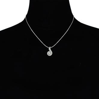 1/4ct Swirling Diamond Pendant in 10k White Gold
