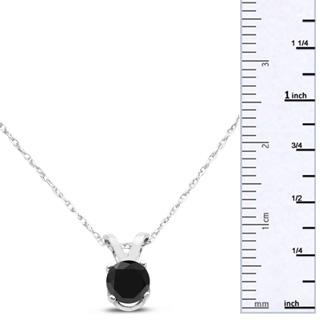 1/3ct Black Diamond Solitaire Pendant in 10k White Gold