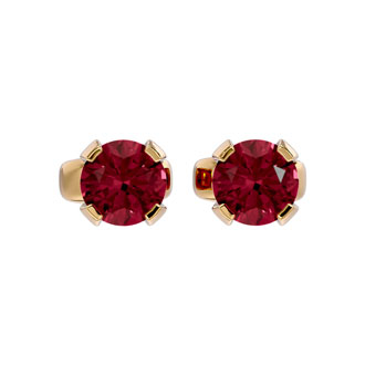 .60ct Garnet Stud Earrings in 14k Yellow Gold