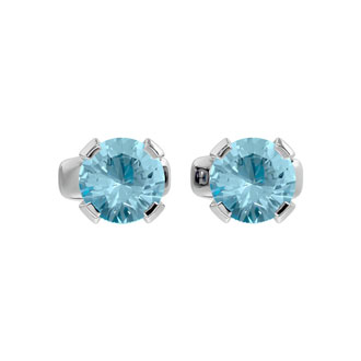 1/2ct Aquamarine Stud Earrings in 14k White Gold