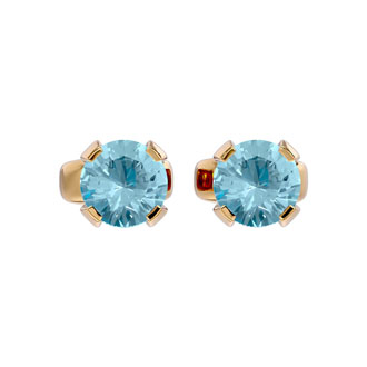 .50ct Aquamarine Stud Earrings in 14k Yellow Gold