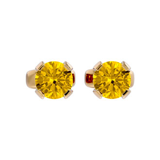 .60ct Citrine Stud Earrings in 14k Yellow Gold