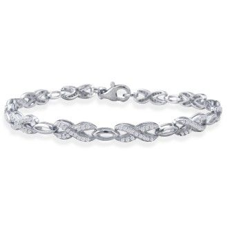 3/4ct Diamond Bracelet in Sterling Silver. As seen on Dr. Phil!