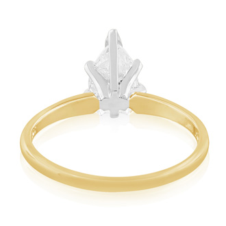 3/4ct Marquise Diamond Engagement Ring, Yellow Gold