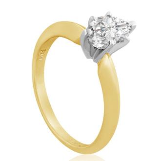 3/4 Carat Marquise Diamond Engagement Ring In 14 Karat Yellow Gold