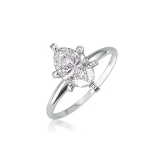 1ct Marquise Diamond Engagement Ring, White Gold, Available in 1/4,1/3,1/2 and 3/4ct