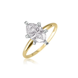 1 Carat Marquise Diamond Engagement Ring In 14 Karat Yellow Gold