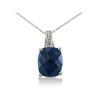 4.5ct Sapphire and Diamond Necklace