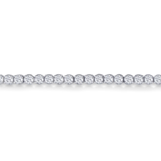 8 Inch, 3 1/2ct Round Based Diamond Tennis Bracelet in 14k White Gold