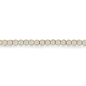 8 Inch, 3 1/2ct Round Based Diamond Tennis Bracelet in 14k YG