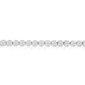 5 3/4 Carat Diamond Tennis Bracelet In 14 Karat White Gold, 8 Inches