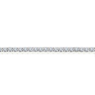 7 Inch 14K White Gold 8 Carat TDW Round Diamond Tennis Bracelet