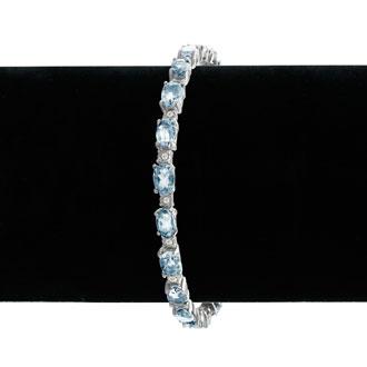 13ct Blue Topaz and Diamond Bracelet