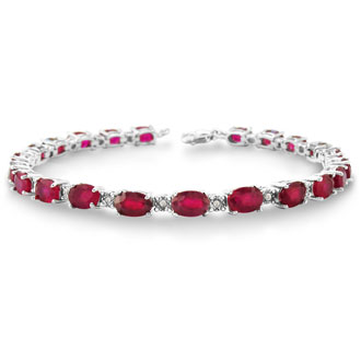 15ct Ruby and Diamond Bracelet