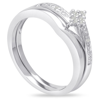 Marquise Shaped Diamond Bridal Set