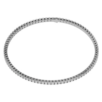 6 Inch 10K White Gold 1 3/4 Carat Diamond Tennis Bracelet