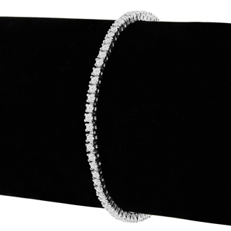 7.5 Inch 10K White Gold 2 1/7 Carat Diamond Tennis Bracelet