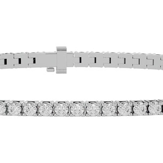 9 Inch 10K White Gold 2 1/2 Carat Diamond Tennis Bracelet