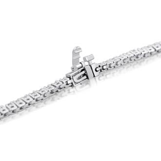 3 1/4 Carat Diamond Tennis Bracelet In 10 Karat White Gold, 7 1/2 Inches