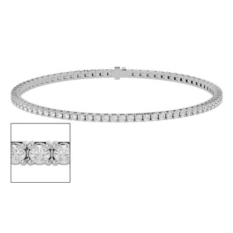 3 1/2 Carat Diamond Tennis Bracelet In White Gold, 8 Inches. The Ultimate Classic Diamond Bracelet!