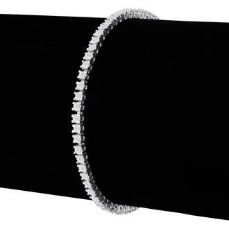 3 2/3 Carat Diamond Tennis Bracelet In 10 Karat White Gold, 8 1/2 Inches