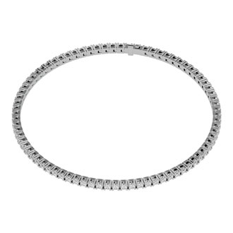 4 Carat Diamond Tennis Bracelet In 10 Karat White Gold, 9 Inches
