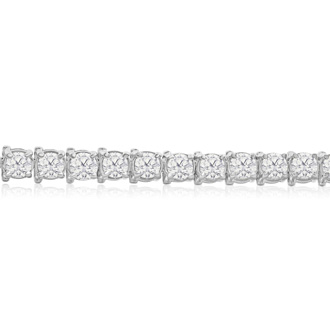 11 Carat Diamond Tennis Bracelet In 14 Karat White Gold, 8 1/2 Inches