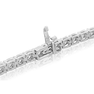 11 3/4 Carat Diamond Tennis Bracelet In 14 Karat White Gold, 9 Inches