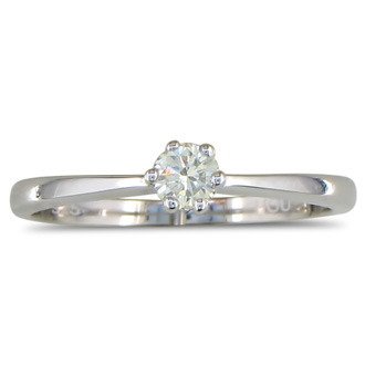 1/6ct Diamond Solitaire Ring in Sterling Silver