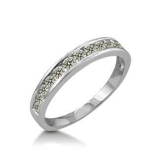 1/2ct Channel Set Diamond Wedding Band in 10k White Gold