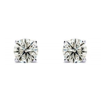 1ct Diamond Studs in 14k White Gold