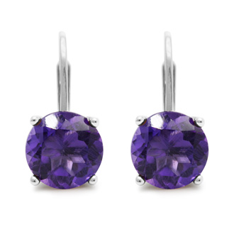 5ct Amethyst Drop Earrings