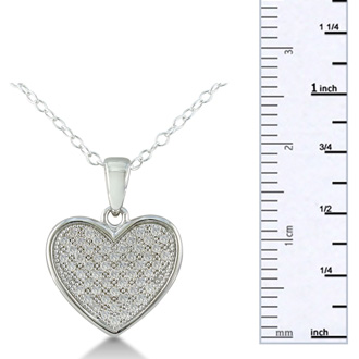 1/3ct Pave Diamond Heart Necklace