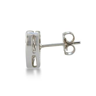 1/3ct Pave Set Black Diamond Heart Earrings in Sterling Silver