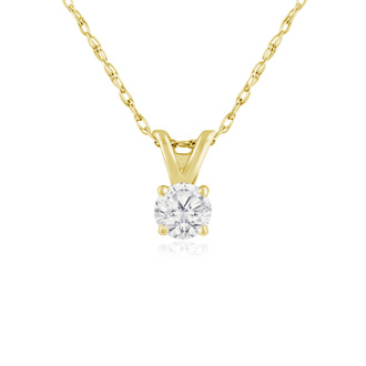 1/6ct Diamond Pendant in 14k Yellow Gold