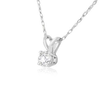 Nearly 1/4ct Diamond Necklace In White Gold