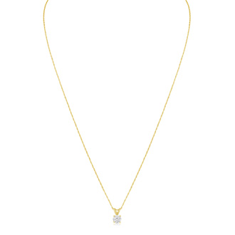 1/3ct Diamond Pendant in 14K Yellow Gold. Genuine, Natural, Earth-Mined Diamond At An Amazing Price!