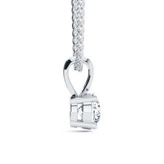 1/2ct Diamond Solitaire Pendant in 14k White Gold, Featured On The Doctors! Beautiful Fiery Diamond Necklace!