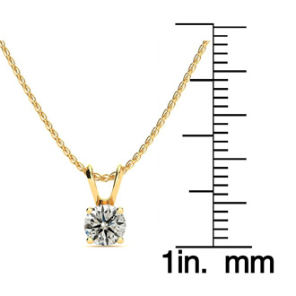 Pretty 1/2ct 14k Yellow Gold Diamond Pendant. Fiery, Amazing Diamond Necklace!