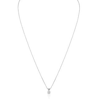 1/5ct 14k White Gold Diamond Pendant, 2 Stars