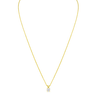 1/5ct 14k Yellow Gold Diamond Pendant, 2 Stars